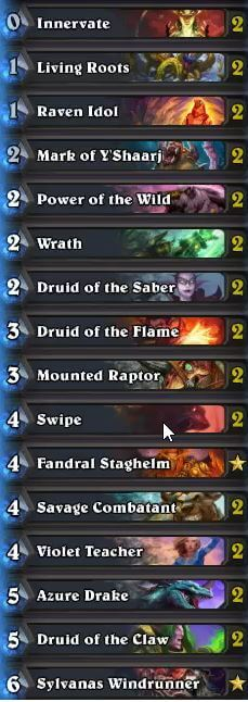 Beast Druid Deck for Legend Rank