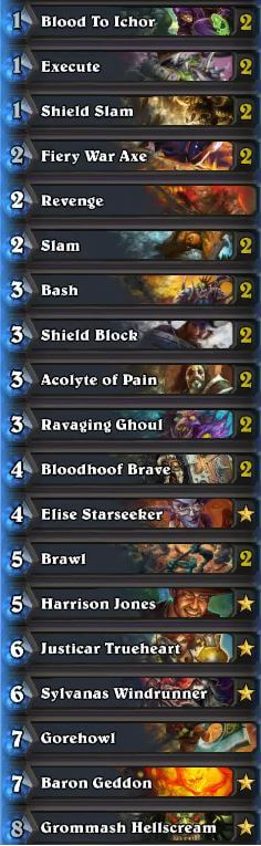 Chakki Control Warrior Deck