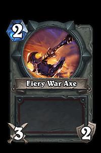 Fiery War Axe Hearthstone Card