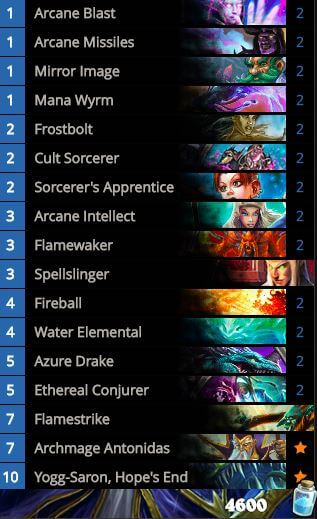 Forsen OG Tempo Mage Standard Deck May 2016