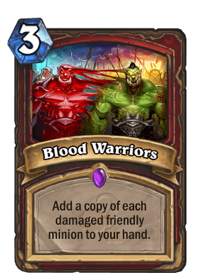 Blood Warriors Hearthstone Card