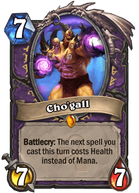 Cho'gall Hearthstone Card