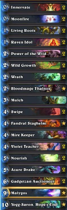 Malygos Druid Deck 2016 OG