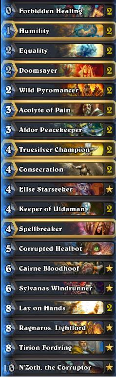 how to build paladin deck