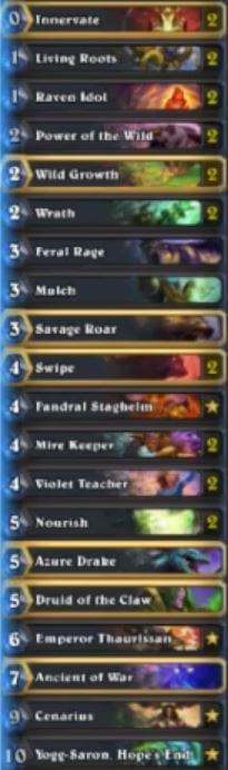 Senfglas Yogg Druid Top 10 Legend Deck