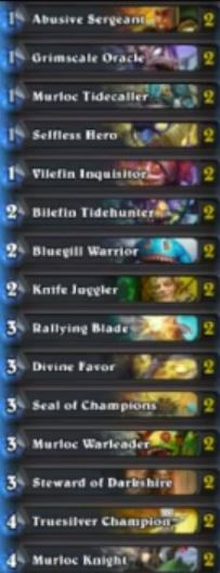 Steward of Darkness Murloc Paladin Deck