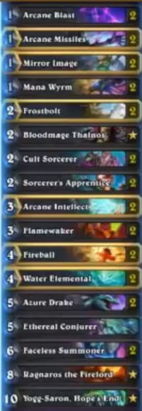 Thijs Tempo Mage with Yogg and Ragnaros