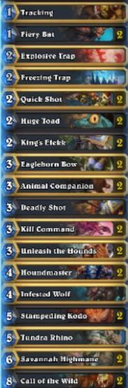 Top 10 Legend Midrange Hunter List
