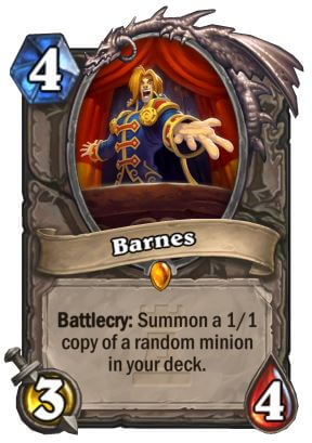 Barnes Hearthstone Card One Night in Karazhan