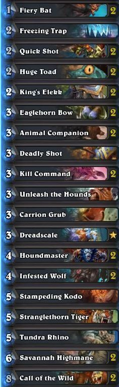 Best Hunter Deck August 16 Season 29