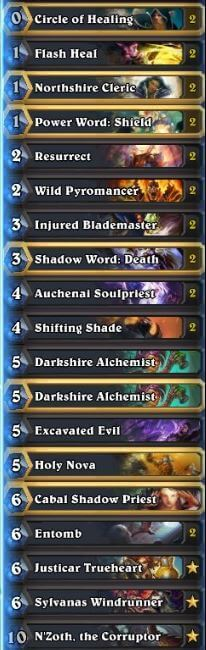 Best Priest Deck August 16 Season 29