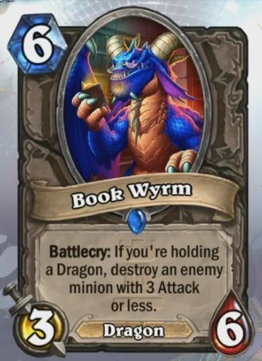 Book Wyrm Hearthstone Card One Night in Karazhan