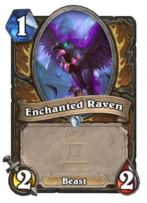 Enchanted Raven Druid Hearthstone Card One Night in Karazhan