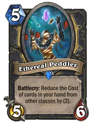Ethereal Peddler Rogue Hearthstone Card One Night in Karazhan