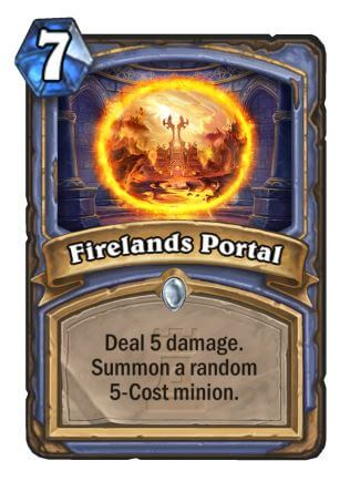 Firelands Portal Mage Hearthstone Card One Night in Karazhan