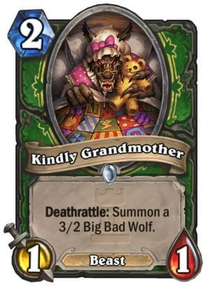 Kindly Grandmother Hunter Hearthstone Card One Night in Karazhan