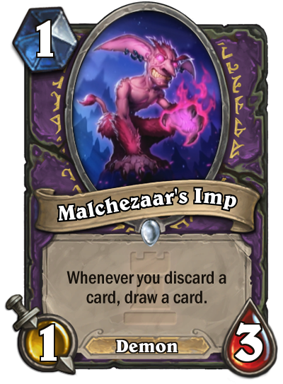 Malchezaar's Imp Hearthstone Card One Night in Karazhan