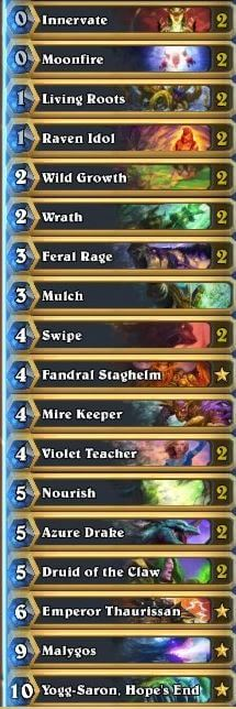 Malygos Druid Deck Old Gods META