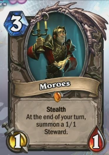 Moroes Hearthstone Card One Night in Karazhan