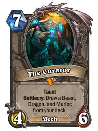 The Curator Hearthstone Card One Night in Karazhan