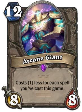 Arcane Giant Hearthstone Card One Night in Karazhan