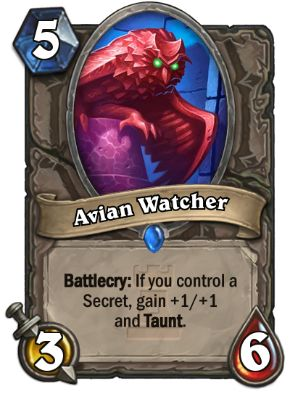 Avian Watcher Hearthstone Card One Night in Karazhan