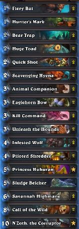 Best Hunter Wild Deck N'Zoth