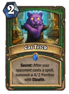 Cat Trick Hearthstone Card One Night in Karazhan