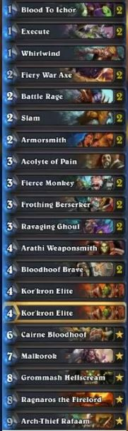 Chinese Tempo Warrior Deck