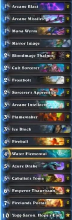 CosplayGrill Firelands Portal Tempo Mage Deck