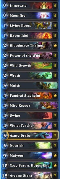 CosplayGrill Karazhan Malygos Druid Deck