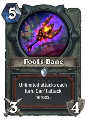 Fool's Bane Hearthstone Card One Night in Karazhan