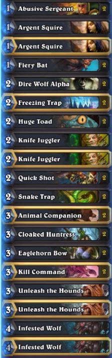 Hearthcoach Karazhan Face Hunter Deck
