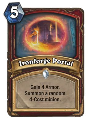 Ironforge Portal Hearthstone Card One Night in Karazhan