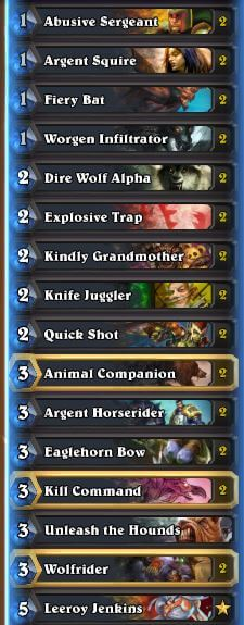 Karazhan Legend Face Hunter Deck