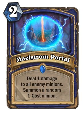 Maelstrom Portal Hearthstone Card One Night in Karazhan