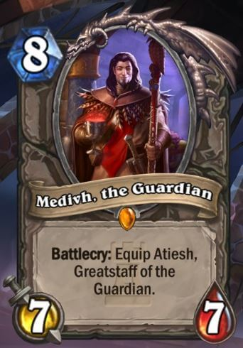 Medivh the Guardian Hearthstone Card One Night in Karazhan