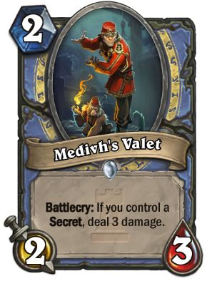 Medivh's Valet Hearthstone Card One Night in Karazhan