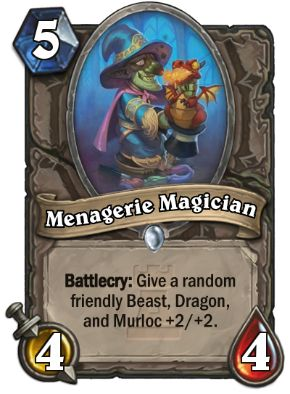 Menagerie Magician Hearthstone Card One Night in Karazhan