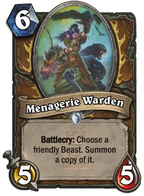 Menagerie Warden Hearthstone Card One Night in Karazhan