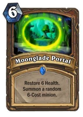 Moonglade Portal Hearthstone Card One Night in Karazhan