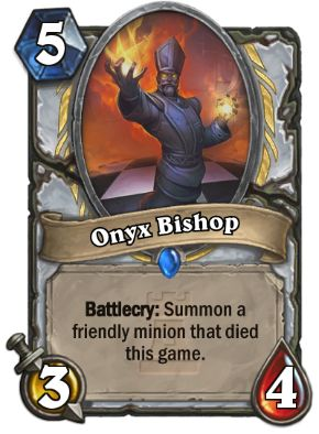 Onyx Bishop Hearthstone Card One Night in Karazhan