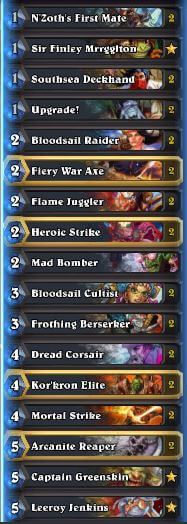 Pirate Warrior Deck WOTOG