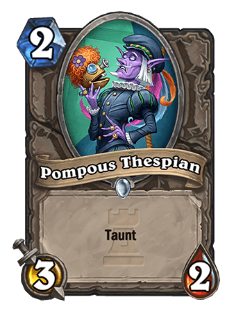 Pompous Thespian Hearthstone Card One Night in Karazhan