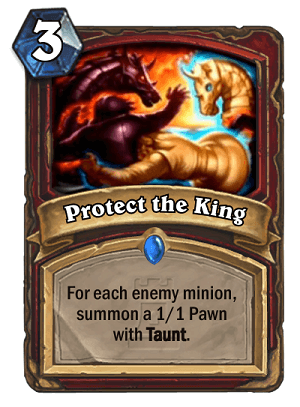 Protect the King Hearthstone Card One Night in Karazhan