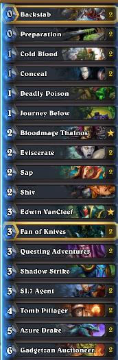 Questing Adventurer Rogue Deck
