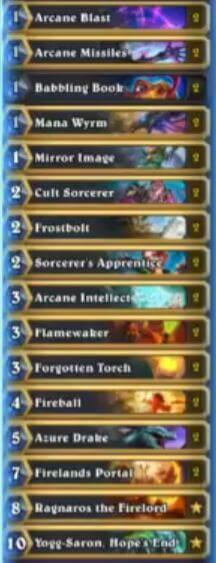 Reynad Babbling Book Tempo Mage Deck