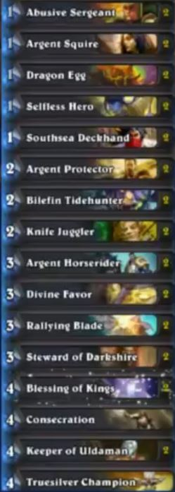 Savjz Divine Shield Paladin Deck