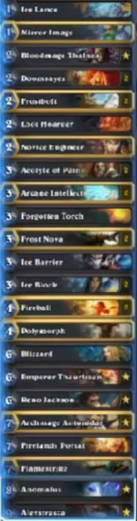 Senfglas Reno Freeze Mage Deck w Anomalus