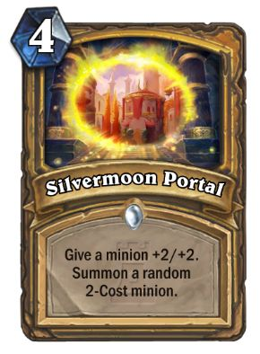 Silvermoon Portal Hearthstone Card One Night in Karazhan